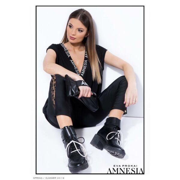 AMNESIA LINX TUNIKA FEKETE