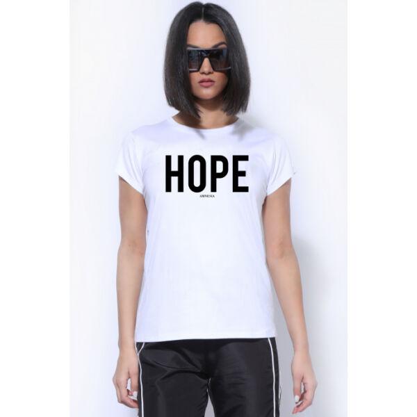 AMNESIA T-POLO HOPE FEHÉR