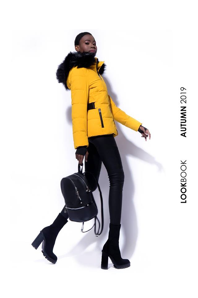 AMNESIA Rövid öves kabát sárga